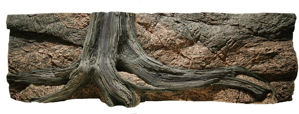 Amazonas akvarijní pozadí s kořenem 3D