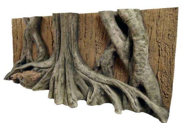 Regenwald Aquarium Mangroven Rückwand Laona - links