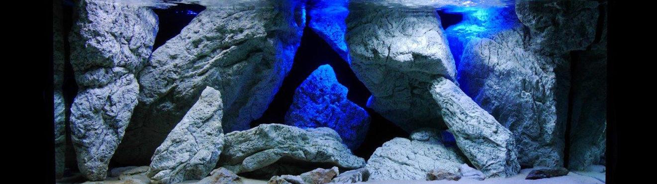 3D aquarium stenen