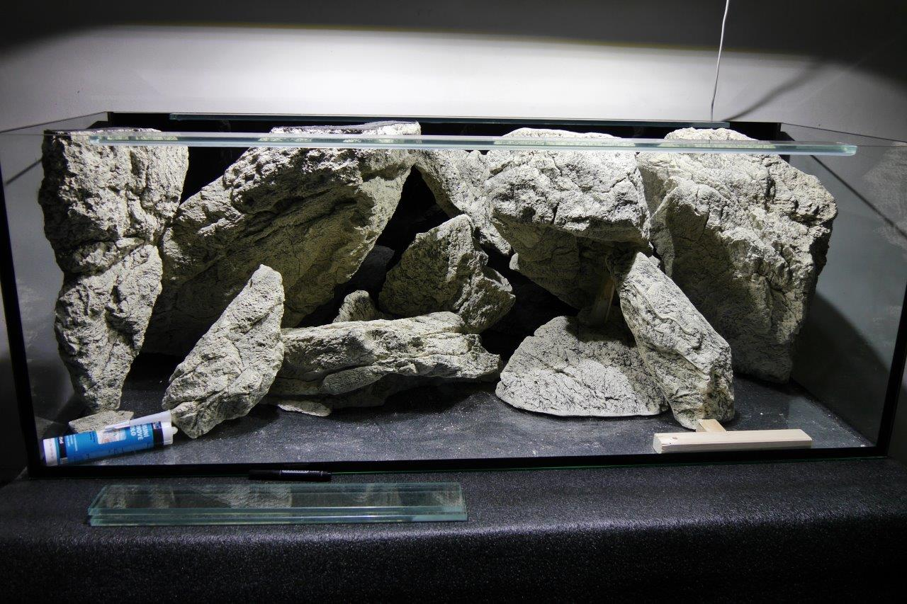 3D Rocks are ready to install into the tank
